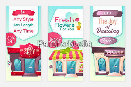 services discount flyers flat vector templates
