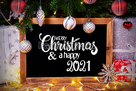 chalkboard tree gift fairy lights merry