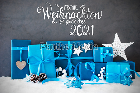 turquois gift snow glueckliches 2021 means