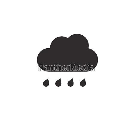 cloud and raindrop rainy day icon