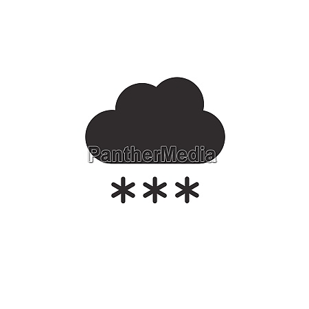 cloud and snow icon weather glyph