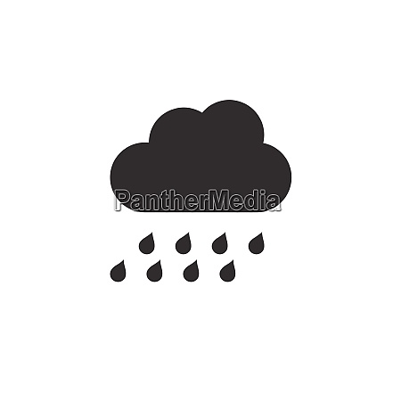 heavy rain and cloud icon weather