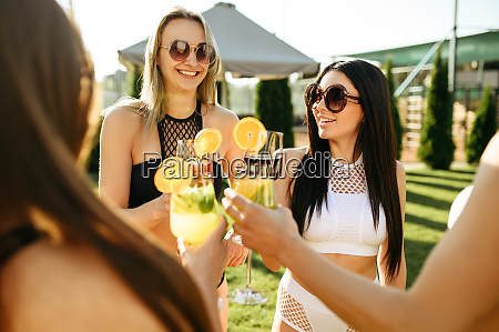 women with coctails leisures at the