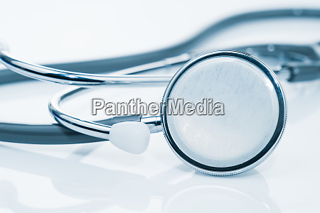 close up medical stethoscope for doctor