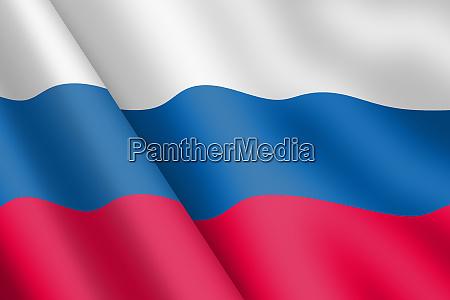 russian federation waving flag 3d illistration