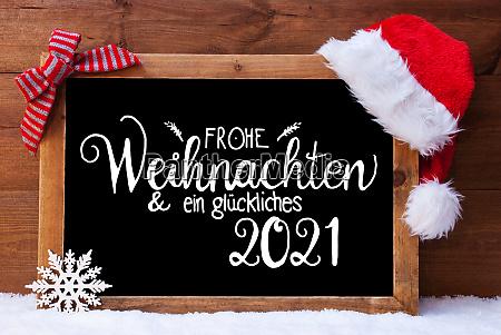 chalkboard christmas decoration santa hat glueckliches