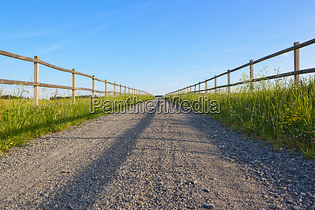 straight dirt road