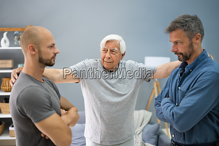 grandfather mediating in family conflict