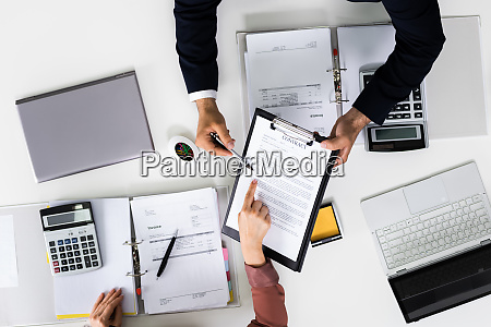 contract document review auditor discussing