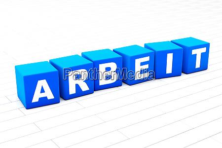 arbeit word illustration