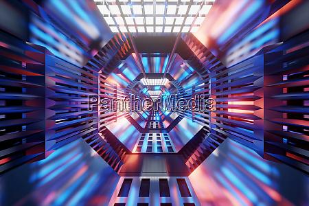 a scifi tunnel