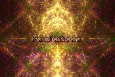 abstract fractal flame fractal background