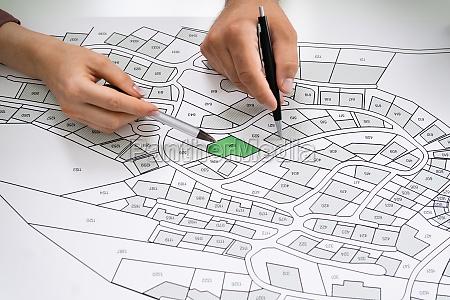 cadastre land map