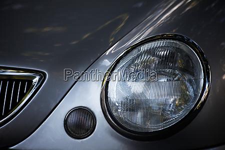 headlights on the car