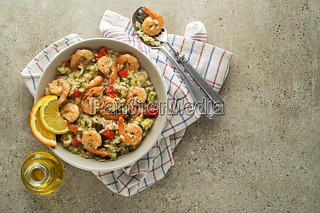 risotto shrimps prawns