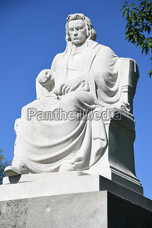 the historic beethoven monument in the