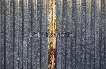 silver metallic door
