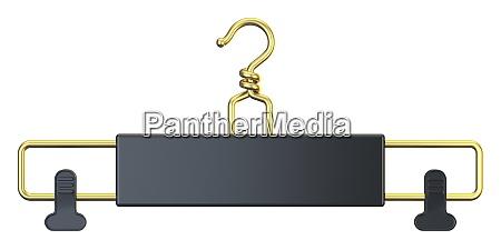 black cloth hanger 3d