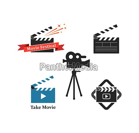 clapperboard movie icon of industry movie