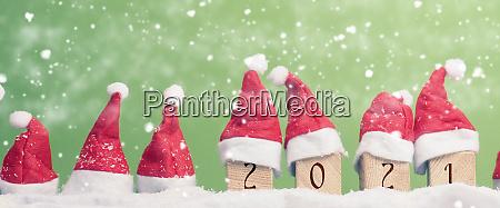 many hats of santa in a