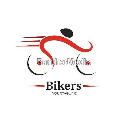 bike icon logo vector illustration design