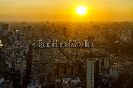 the city and skyline of ho