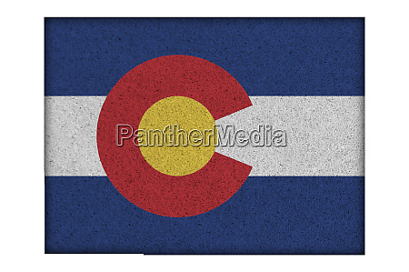 map and flag of colorado on