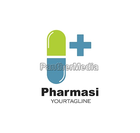 pharmacy logo icon vector illustration