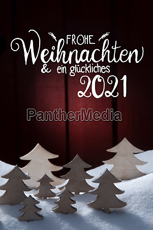 christmas tree snow glueckliches 2021 means