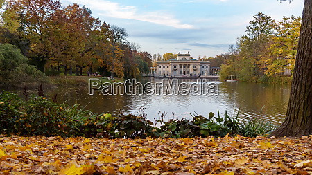 pond and palace in royal baths
