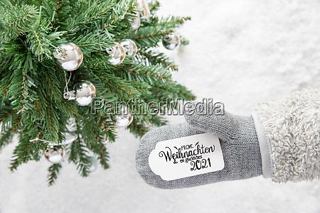 gray glove tree silver ball glueckliches