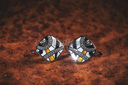 pair of beautiful earrings