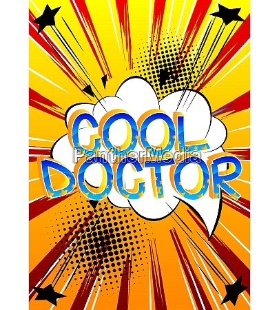 cool doctor comic book style cartoon