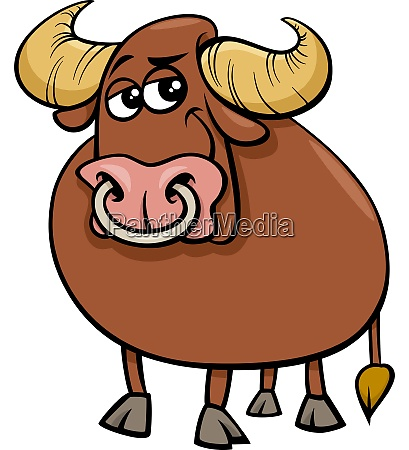 bull farm animal comic character cartoon