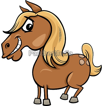cartoon horse or pony farm animal