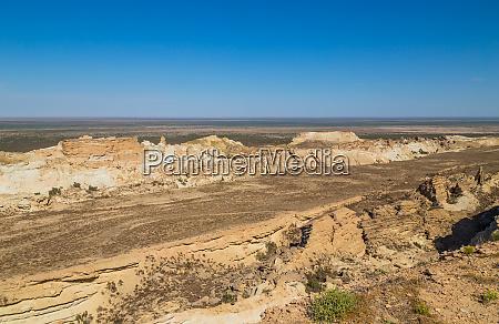 rim of plateau ustyurt