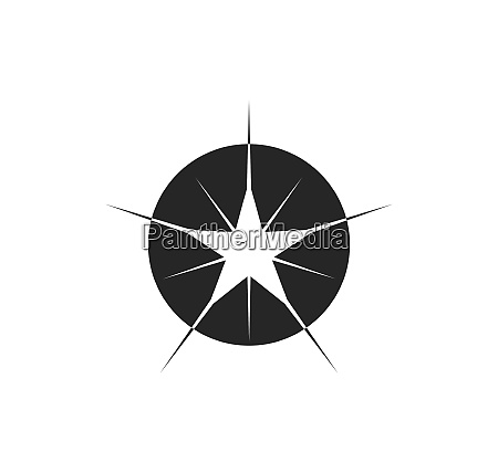 sparkle light star vector illustration design