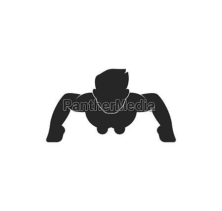 push up icon logo vector illustration