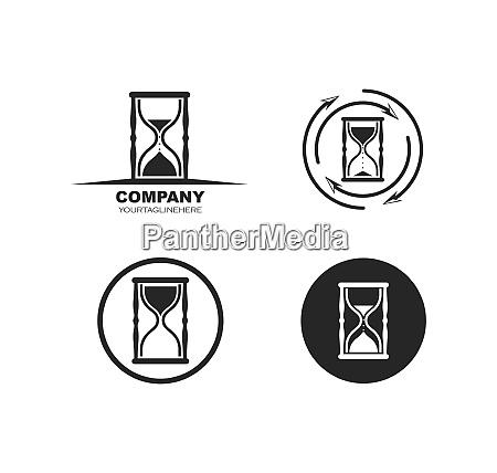 sand clock icon vector illustration design