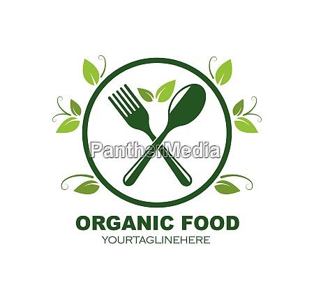 vegetarian icon logo vector illustration