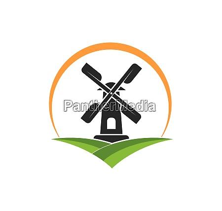 wind mill icon vector illustration