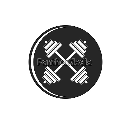 barbell vector icon illustration