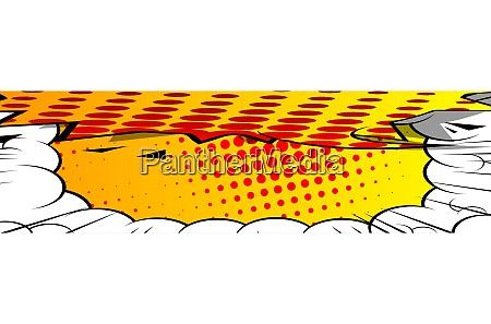 cartoon design colored banner