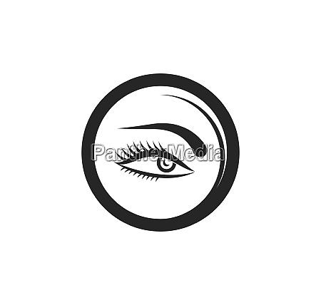 optical eye icon logo vector template