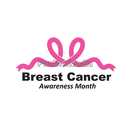 breast cancer ribbon vector illustration design
