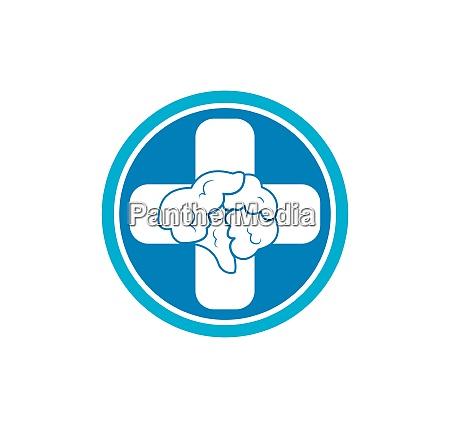 brain illustration vector icon logo design