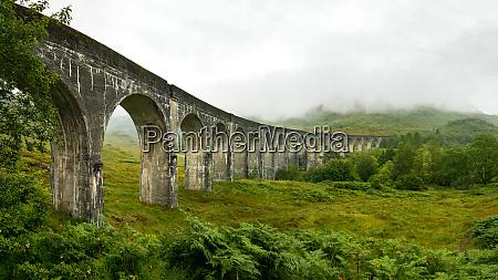 high resolution panorama of glenfinnan railway