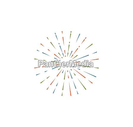 firework vector illustration icon design