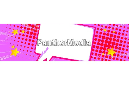 comic book style abstract banner with