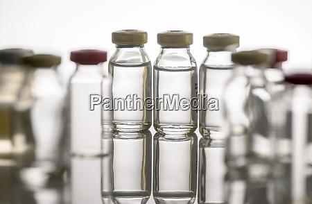 studio shot of vials with liquid